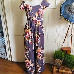 Band of Gypsies Jumpsuit - M floral , pull on